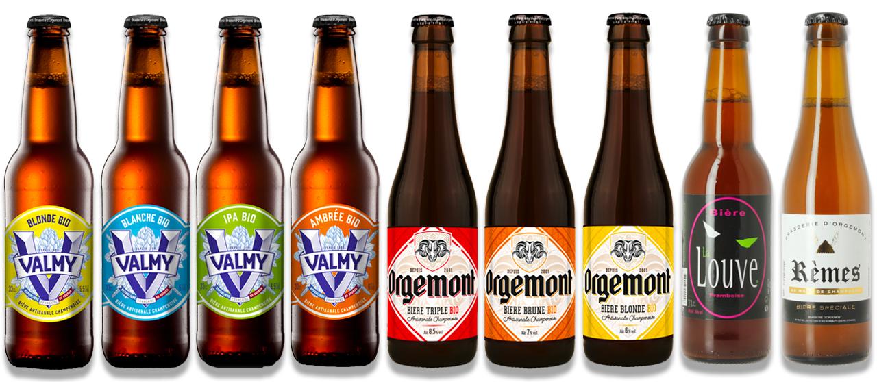 Gamme bières Orgemont et Valmy